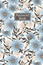 Password Book: password book with alphabetical tabs 6x9 password keeper logbook with alphabetized tabbed pages / blue floral website email address and password book large print for women girls / password log book and internet password organizer