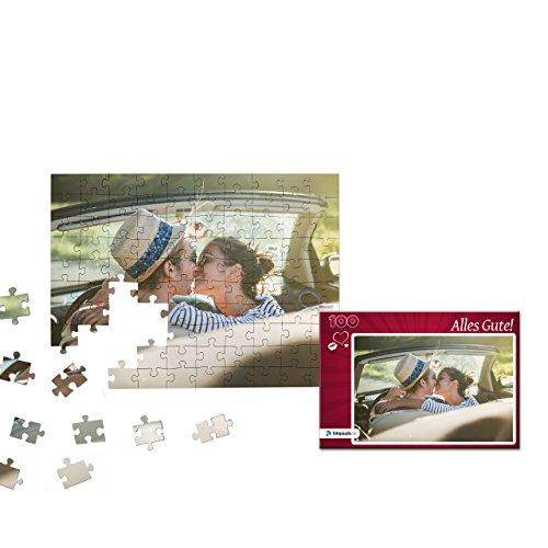 Fotopuzzle 100 bis 2000 Teile - Gestaltung jetzt direkt Hier - Das Puzzle mit eigenem Foto und individueller Geschenk-Schachtel (100 Teile, Schachtel: Herz Rot)