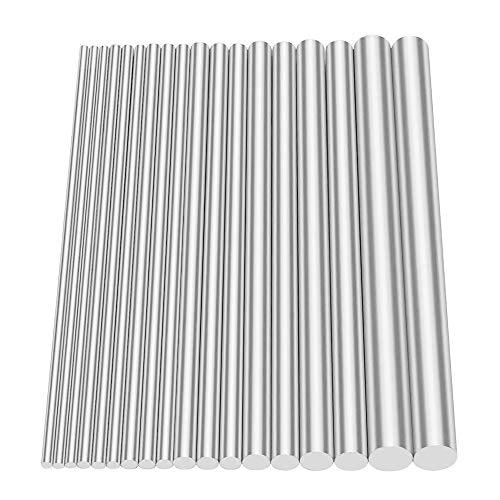 Glarks Metals Barra de torno redonda para herramientas de bricolaje, diámetro de...