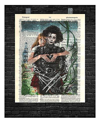 Edward Scissorhands Wall Decor Edward Scissorhands Dictionary Art Print 8 x 10