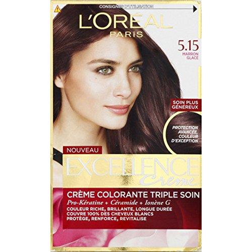 L'Oréal Paris - Excellence Crème 5.15 Marron Glacé - La boîte - (pour la quantité plus que 1 nous vous remboursons le port supplémentaire)