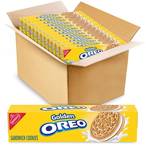 Oreo Golden Sandwich Cookies, 5.5 Ounce (Pack of 12) $12