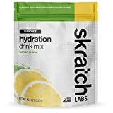 SKRATCH LABS Sport Hydration Drink Mix, Lemon Lime (46.5 oz, 60 servings) - Electrolyte Powder...