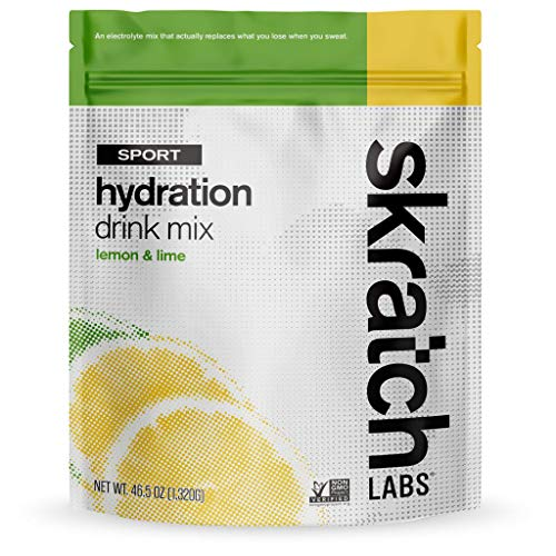 SKRATCH LABS Sport Hydration Drink Mix, Lemon Lime (46.5 oz, 60 servings) - Natural, Electrolyte Powder Developed for Athletes and Sports Performance, Gluten Free, Vegan, Kosher