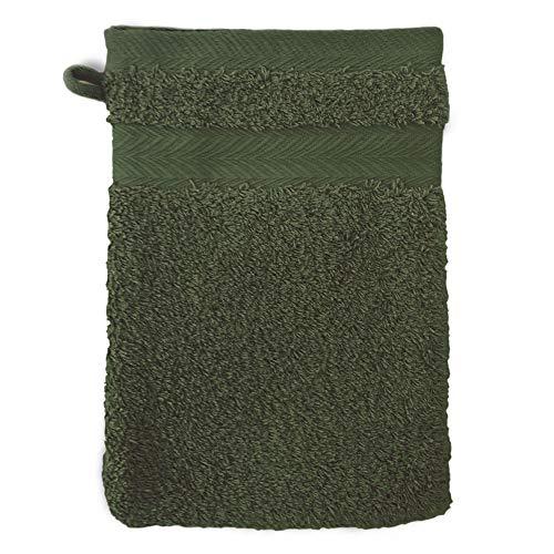 Linnea Gant de Toilette 16x21 cm Royal Cresent Vert Bouteille 650 g/m2