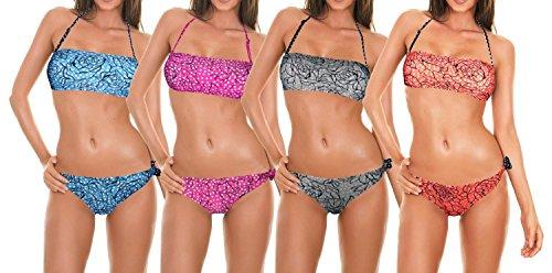 Dames bikini, verschillende kleuren en maten FLOWERS Oranje XL