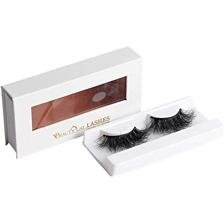 BEAUTY CAT 3D False Mink Eyelashes Long Size No. 008 LONDON for Full Long Dramatic and Natural Look with Comfortable Wearing Strip Lashes by Handmade, Soft & Light Weight Fluffy Faux Eyelash with Luxury Packaging Box for Eye Makeup and Reusable from South Korea