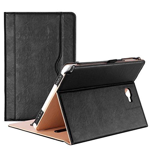 ProCase Custodia per Samsung Galaxy Tab A 10.1 con S Pen - Custodia Stand Folio per Galaxy Tab A Tablet 10.1 Pollici con S Pen SM-P580,con Angoli di Visuale Multipli, Tasca per Schede Documenti -Nero