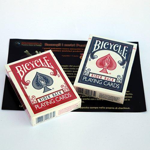 SOLOMAGIA 2 (Due) Mazzo di Carte Bicycle - Formato Poker - Old Case - Dorso Rosso e Blu