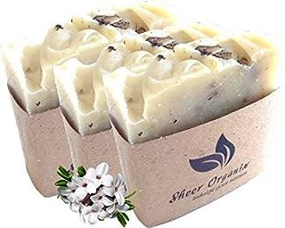 (3 Pack) Sheer Organix Luxury Rejuvenative Handmade Herbal Soap, 3.52 oz. / 100g, Daphne