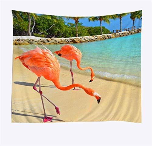 wangguifu Gelbe Große Tukan Tapisserie Ozean Strand Tapisserie Dekoration Tapisserie Wand Tapisserie Strandtuch Yogamatte Home Dekoration 230x150cm 90x60inch