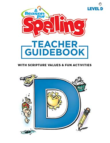 A Reason For Spelling Teacher Guidebook Level E, 5th Grade - Fifth Graders Practice Workbooks for Words, Vocabulary & Comprehension Skills - Kids Help Books for Homeschool, Classroom, Home