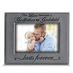 "Frame Made by High Quality Leatherette(faux Leather) Cover Photo is Real Glass, Package is Recycle Material With Stamped Logo and Label Can hang or stand horizontally or vertically. Frame Size 6 3/4"" x 8 3/4"" Suitable For Horizontal 4"" x 6"" Photo Des..."