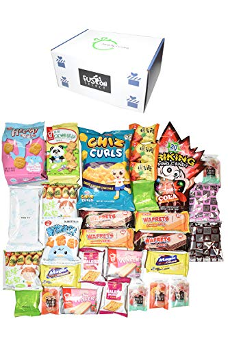 Ultimate Asian Snack Box ( 30 counts) - Variety Assortment of Asian Snacks Chips Cookie