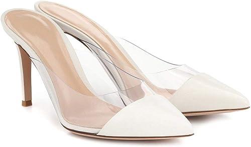 Femme Stilettos Sexy Mode Bout Ouvert Pour Fête Soirée Chaussures Taille 34-46
