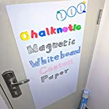 Chalknetic Magnetic Whiteboard Contact Paper, 39.3' x 17.7', Self Adhesive Magnetic Dry Erase Board, Alphabets Learning Writing Board for Kindergarten Classroom Homeschool Kids