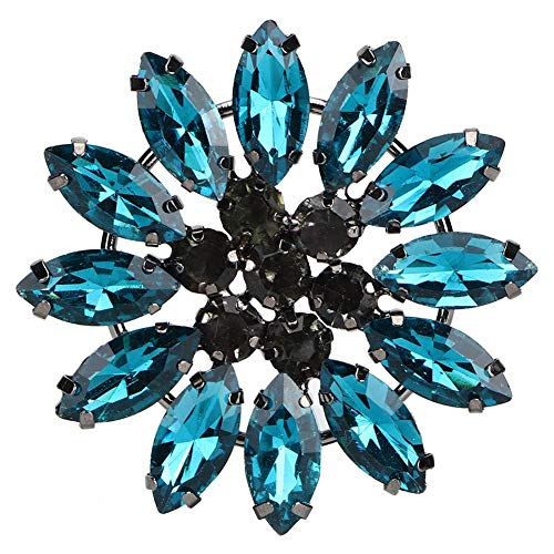 Atyhao 2 Piezas de Diamantes de imitación de Flores de Vidrio Colorido...