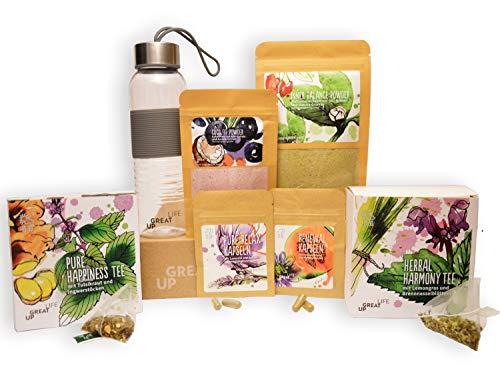 Detox Diät Superfood Kur - 3 Wochen | Effektiv Detoxen + schnell Abnehmen | 100{cf3741138652e5679012dd770610e85ee4ea89d2695964b90df7b4e00f960374} Vegan | Entgiftung | Vitalität | Basischer Online Ernährungsplan | Youtube Fitness-Übungen | Gratis Smoothie Ebook