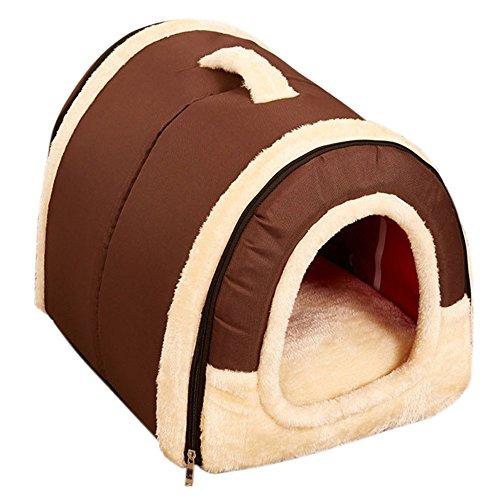 Youth Union Hundebett Hundehütte, Weiche Katzenhöhle Katzenhaus Haustier Bett Warm Schlafsack mit Abnehmbar Kissen für Hunde Katzen Hasen