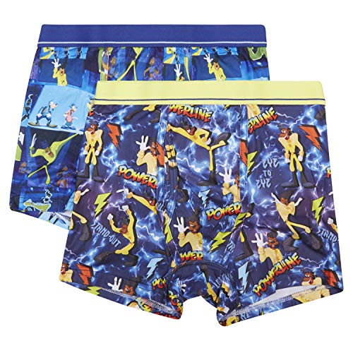 Disney Powerline Goofy Movie-Max Goof Mens Underwear-2 Pack Boxer Briefs, Multicolor, Medium