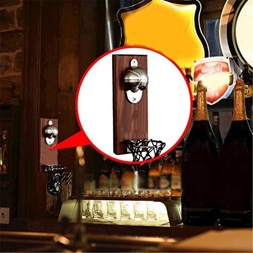 Getherad Flessenopener, flessenopener voor koelkastmagneten Veelzijdige flesopener met sluiting, creatieve kunst flesopener, sticker, magneet, bierfles, voor bar, restaurant, thuis, biological