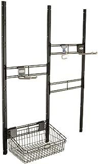 Suncast BMSA3B TRV158707 Bracket, Hooks, Basket Kit-Closet System for Mounting in Sun, Black