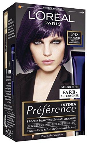 L'Oréal Paris Préférence Booster P38 Intensives Violettbraun, 3er Pack (3 x 1 Stück)