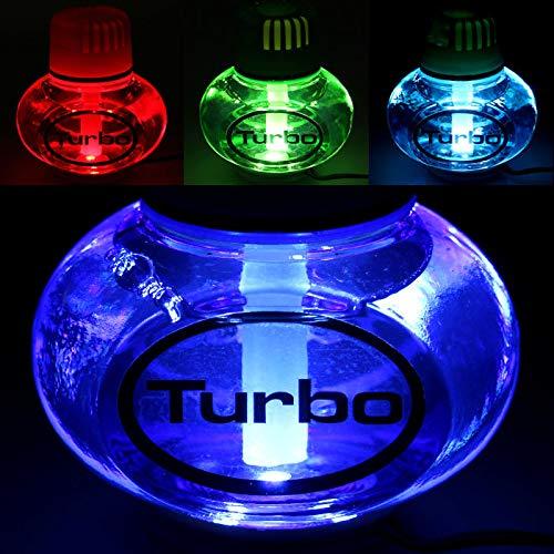 Poppy Turbo Lufterfrischer Tropical mit 7 Farben LED Multicolor-Beleuchtung 12V 24V für LKW KFZ Auto Wohnwagen Inhalt 150 ml