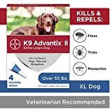 Bayer K9 Advantix II Flea, Tick and Mosquito Prevention for X-Large...