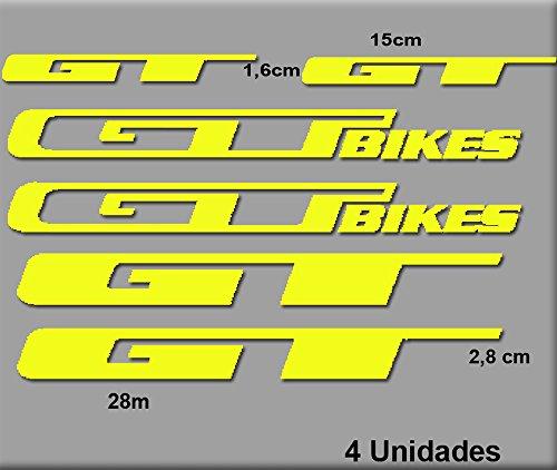 Ecoshirt EL-2DOV-4JC3 Aufkleber GT Bikes R70 Stickers Aufkleber Decals Autocollants Adesivi, gelb