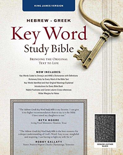 The Hebrew-Greek Key Word Study Bible: KJV Edition, Black Genuine Leather Thumb-Indexed (Key Word Study Bibles)