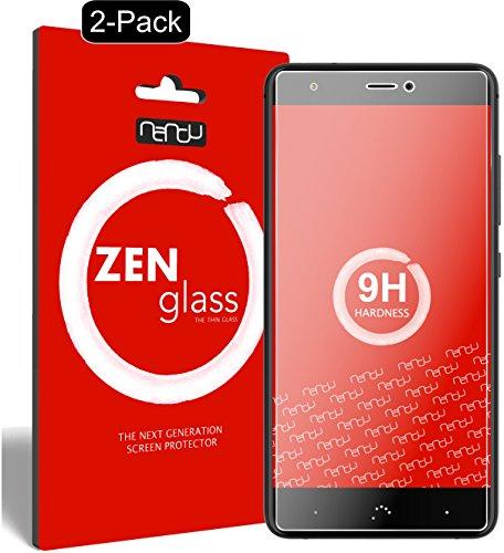 ZenGlass [2 Stück Flexible Glas-Folie kompatibel mit BQ Aquaris X Panzerfolie I Bildschirm-Schutzfolie 9H I (Kleiner Als Das Gewölbte Bildschirm)