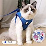 Reflective Cat Vest Harness and Leash Set for Walking 360° wrap-Around Small Cat