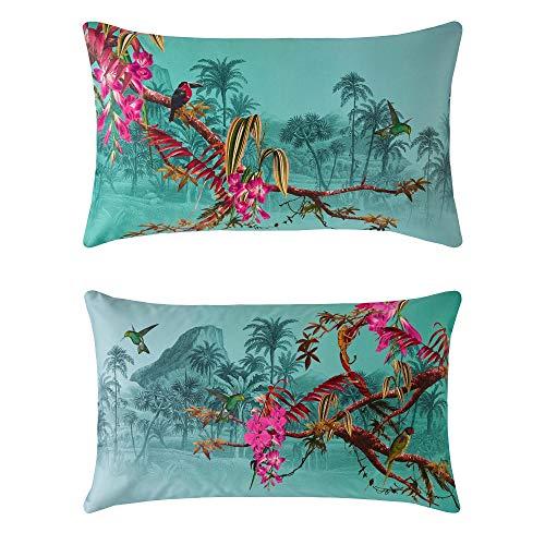 Ted Baker Hibiscus Bedding Bedding: Pillowcase Set of 2, Standard 48x74cm