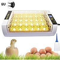 Incubadora Digital de Huevo Automática con Control Temperatura-Criador de Aves de Corral de 24 Huevo con Control Giratoria - Función LED de Alta Eficiencia para Huevo de Codorniz, Pato, Ganso, Gallina