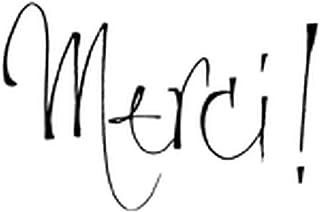 Artemio ARTHE394 Tampon Bois E Texte Merci, Multicolore, 4,5 x 2,5 x 5,6 cm