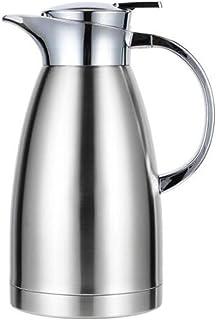 やかん、ステンレス製の絶縁された鍋、世帯の魔法瓶、やかん、2.1L絶縁されたやかん、絶縁材、焦げ付き防止、滑り止め、世帯、屋外の出現、商業鍋 (Capacity : 2.0L, Color : Silver)