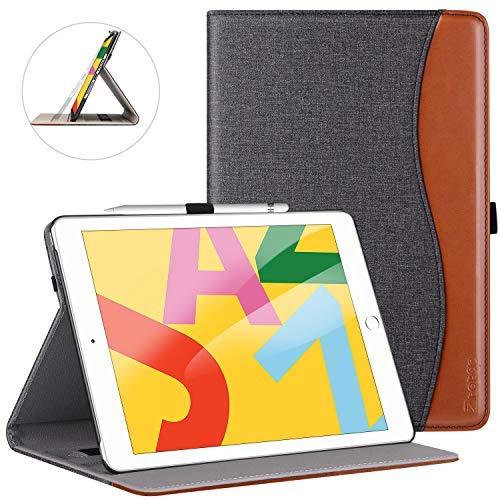Ztotops Hülle für Neu iPad 10.2 2019,Premium Leder Mehrfachwinkel Schutzhülle,mit elastischer Stifthalter,Kartensteckplatz,Auto Schlaf/Aufwach Funktion,für iPad 7. Gen 10.2