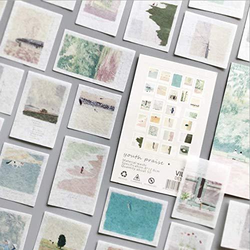 Lob der Jugend Washi Stckers Set DIY Aufkleber Tagebuch Dekoratives Briefpapier Scrapbooking Schulmaterial 50 Stück/Pack
