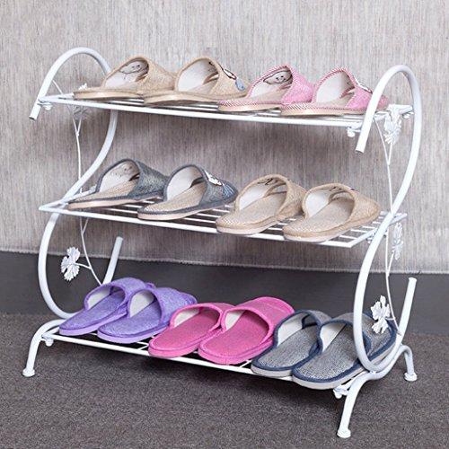 Étagère à chaussures Fu Man Li Trading Company Fer à Repasser crémaillère créative de Plusieurs étages Moderne Moderne Salon des Pantoufles A+ (Taille : Blanc)