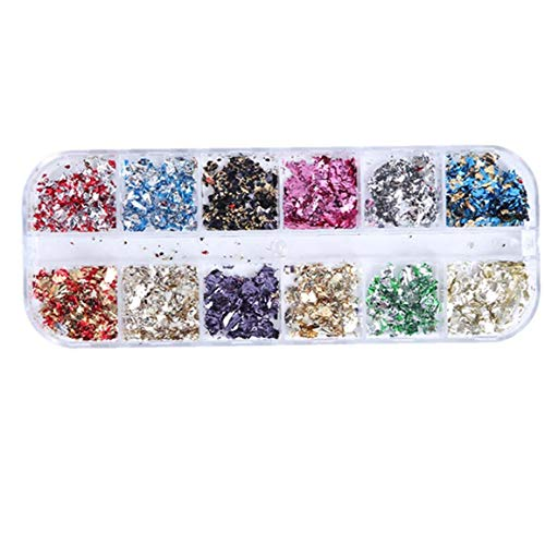 12 Grids/Boîte Ongles Feuille Flacks Ligne Nail Strips Glitter Durites Pour Femmes Bricolage Décor Design Fingers