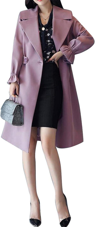 SHOWNO Womens Solid Longline 1 Button Lapel Cardigan Coat Jacket Outerwear