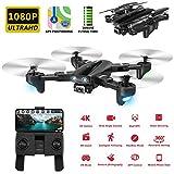 XIAOKUKU Pieghevole GPS Drone, 1080P Rc Quadcopter con Il Gesto di Scatto, Regolazione Telecamera...