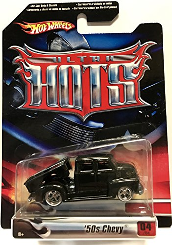 Hot Wheels Ultra Hots \'50s Chevy Truck Black 1:64 Scale Collectible Die Cast Car