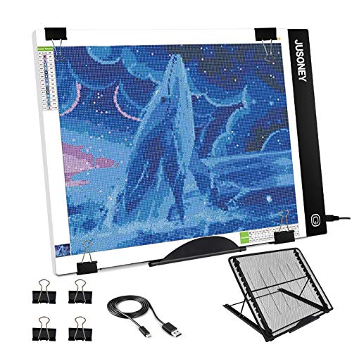 JUSONEY Tablette Lumineuse pour Le Diamond Painting, B4 LED,également idéal pour Le Dessin d'artiste, Le Scrapbook, Le Croquis, la Conception d'animation de Stencilling, etc (Tablette Lumineuse B4)