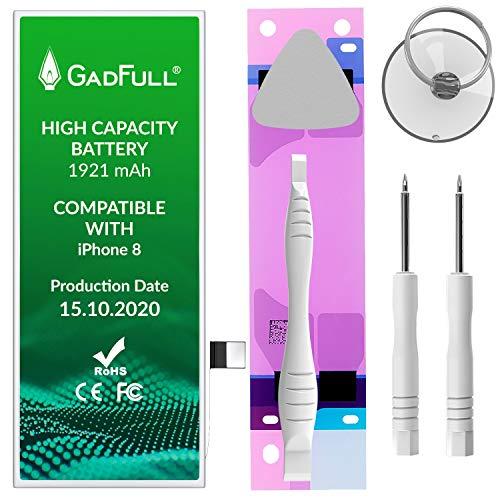 GadFull Batería de Alta Capacidad de reemplazo Compatible con iPhone 8 | 2020 Fecha de producción | Incluye Manual de reparación y Kit Profesional de Juego de Herramientas