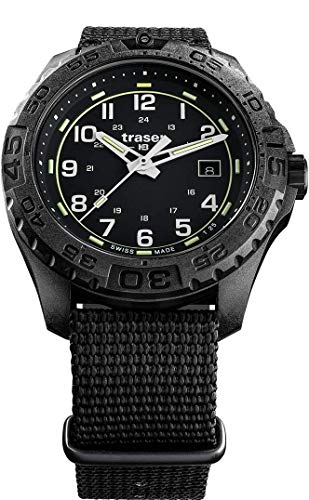 Traser H3 P96 Outdoor Pioneer Evolution Black Tactical Watch Militär Armbanduhr NATO Armband