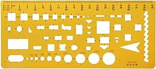 Lunji Règle Géographie Normographe - pour Dessin Bâtiment Bureau Scolaire (63#)