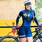 Damen-Triathlon-langärmliges Anzug-Rad-Anzug eng anliegend atmungsaktiv läuft schwimmender Badeanzug (Color : 62, Size : Medium)