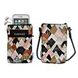 Cross Body Phone Pouch for Women, Tainada Universal Crossbody Dual Zippered Wallet Purse Bag with Detachable Strap for iPhone 11/12 Pro Max, XR, Samsung S20 FE, A32, LG Velvet (Mountain Pattern 1)